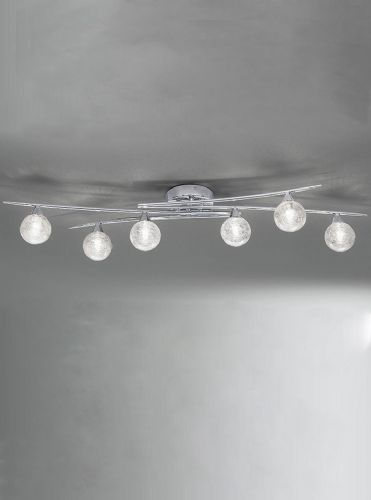 Franklite FL2297/6 Chrome Ceiling Light